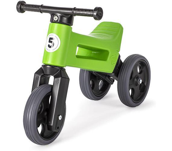 Odrážedlo zelené FUNNY WHEELS 2v1 výška sedadla nastavitelná 28/31cm nosnost 50kg 18m+ v sáčku