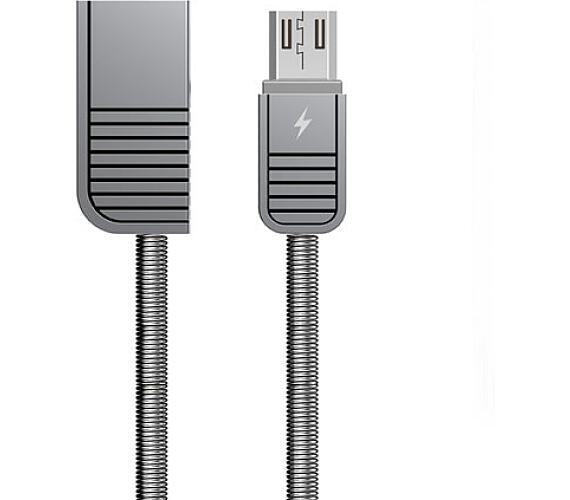 Remax RC-088m Linyo datový kabel micro USB,stříbrný (AA-7088)