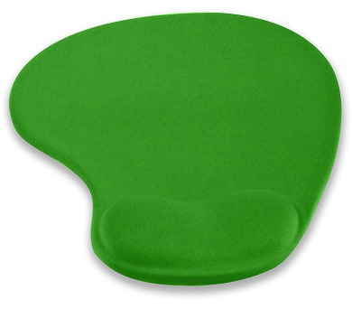 4W Podložka pod myš ergonomická gelová Green