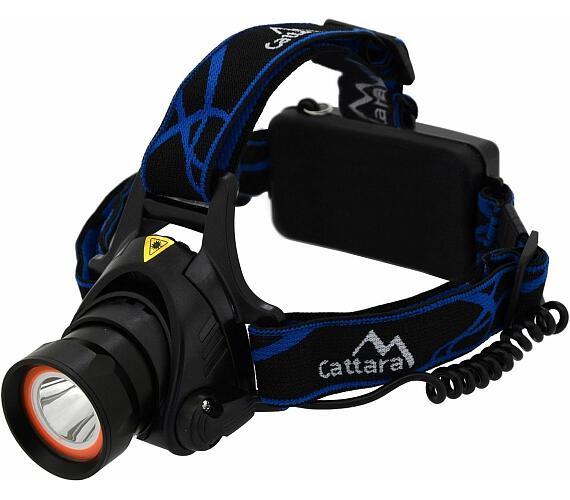 Čelovka LED 400lm (1x XM-L+15x SMD) CATTARA