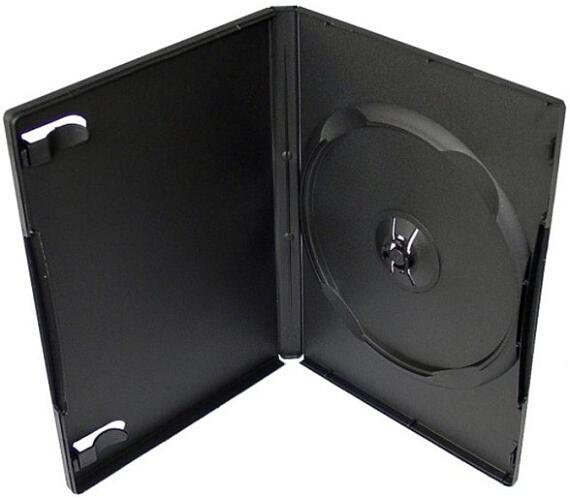 COVER IT Krabička na 1 DVD 14mm černý - karton 100ks (NN124)