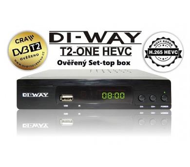 SET TOP BOX DI-WAY T2-ONE FullHD s HEVC H.265 DVB-T2 ověřeno + DOPRAVA ZDARMA