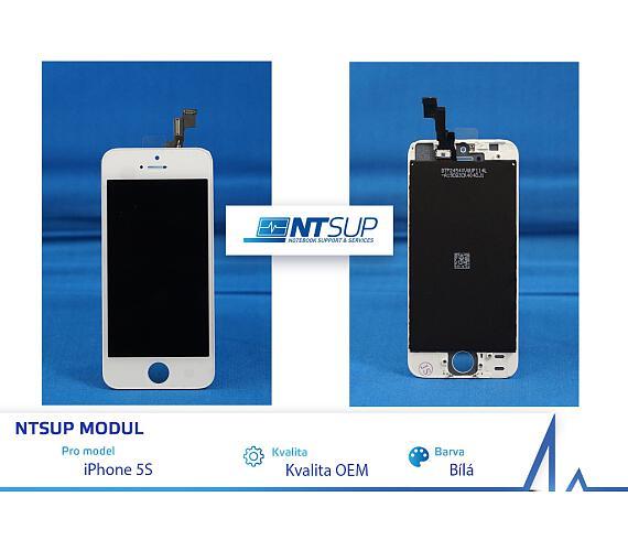 NTSUP LCD modul iPhone 5S bílý kvalita B (38890008)