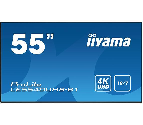 IIYAMA LE5540UHS-B1 - AMVA3,4K UHD,8ms,350cd/m2