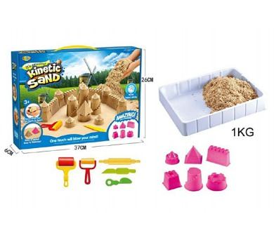 Magický písek 1kg hrad s doplňky 11ks v krabici