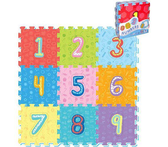 Pěnové puzzle číslice 9ks 32x32cm 10m+ + DOPRAVA ZDARMA