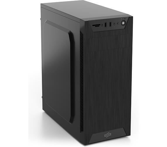SilentiumPC skříň MidT Armis AR1 Pure Black / čtečka SD / 2x USB 3.0 / 1x 80mm fan / černá (SPC173)