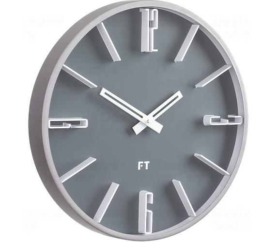 Designové nástěnné hodiny Future Time FT6010GY Numbers 30cm + DOPRAVA ZDARMA