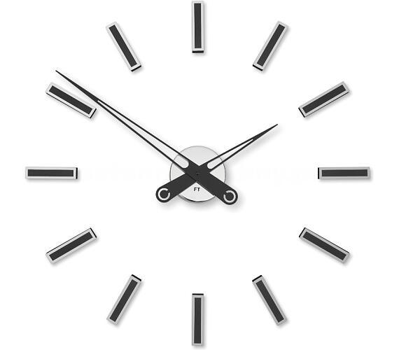 Designové nalepovací hodiny Future Time FT9600BK Modular black 60cm + DOPRAVA ZDARMA