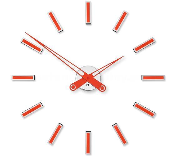 Designové nalepovací hodiny Future Time FT9600RD Modular red 60cm + DOPRAVA ZDARMA