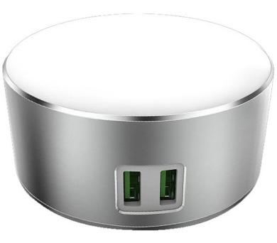 COLORWAY LED lampa + USB nabíječka/ 2x USB port (CW-CHL22A)