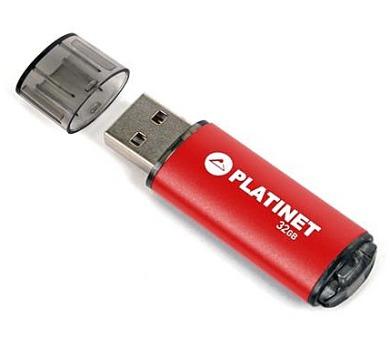 PLATINET flashdisk USB 2.0 X-Depo 32GB červený (PMFE32R)