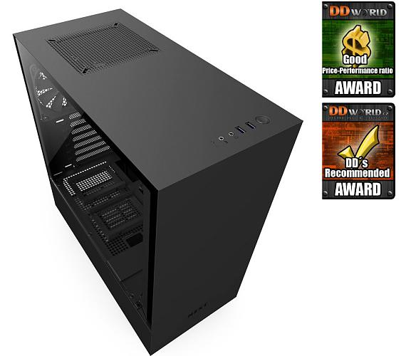 NZXT skříň H500 / ATX / průhledná bočnice / 2x USB 3.0 / černá (CA-H500B-B1)
