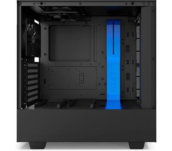NZXT skříň H500 / ATX / průhledná bočnice / 2x USB 3.0 / černomodrá (CA-H500B-BL)