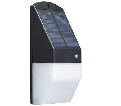 IMMAX venkovní solární LED osvětlení s čidlem/ 1,2W/ 3000K a 6000K/ 350lm/ IP65/ černé (0843