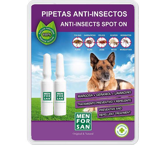 Menforsan proti blechám a klíšťatům pro psy - 2 x 1,5 ml