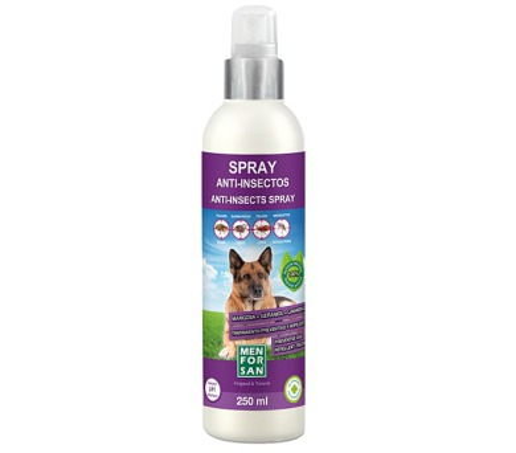 Menforsan antiparazitný sprej proti blechám a klíšťatům pro psy s margózy 250ml