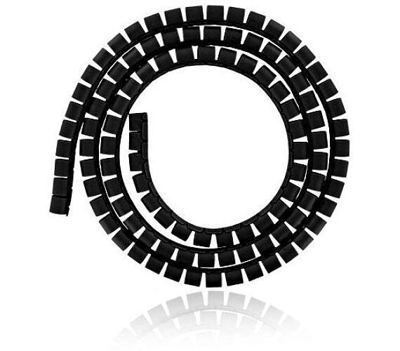 4W Organizér kabelů 34MM 1,5m černý (06520)