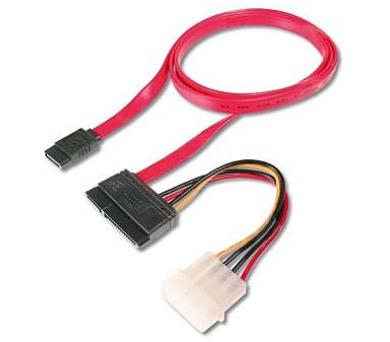 Redukce napájení SATA + 0,5 m datový kabel SATA (KFSA-4)