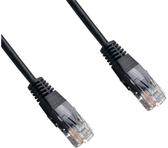 DATACOM patch cord UTP cat5e 0,5M černý