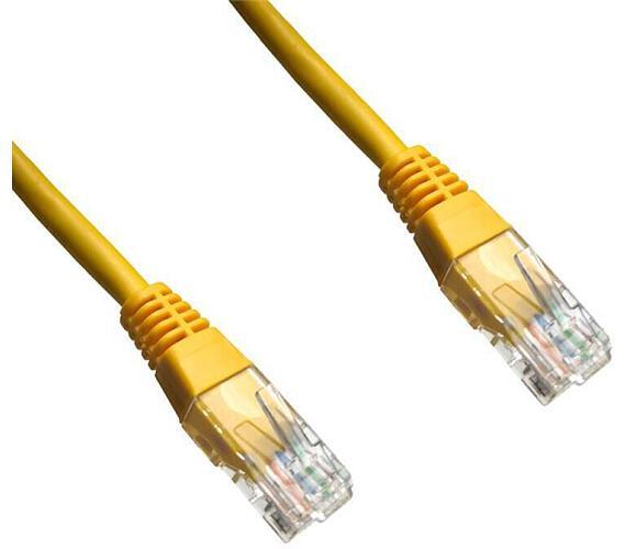 DATACOM patch cord UTP cat5e 0,5M žlutý