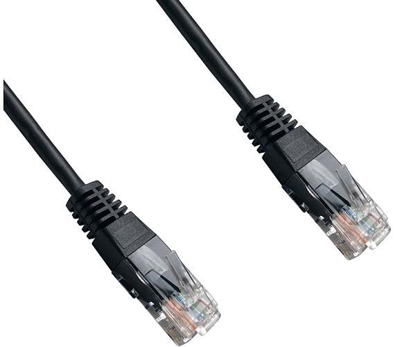 DATACOM patch cord UTP cat5e 5M černý
