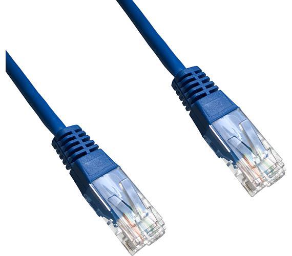 DATACOM patch cord UTP cat5e 5M modrý