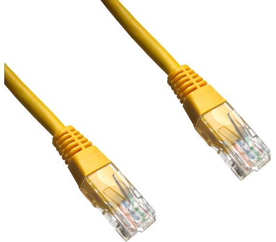DATACOM patch cord UTP cat5e 5M žlutý