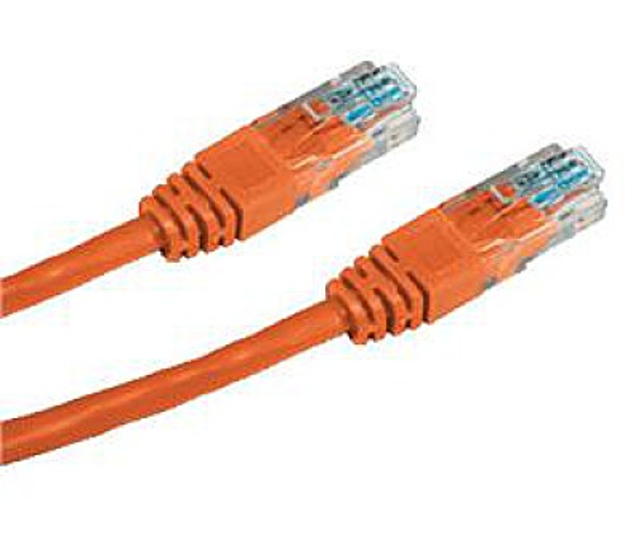 DATACOM patch cord UTP cat5e 3M oranžový