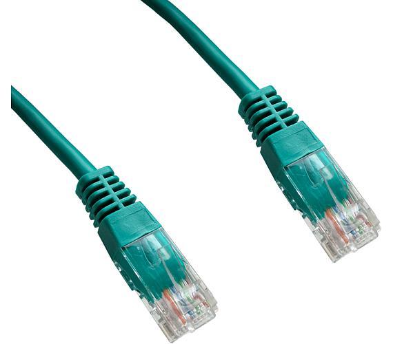 DATACOM Patch cord UTP CAT5E 1,5m zelený