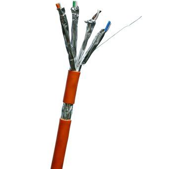 DATACOM S/FTP drát CAT7 LSOH 500m cívka oranžový + DOPRAVA ZDARMA