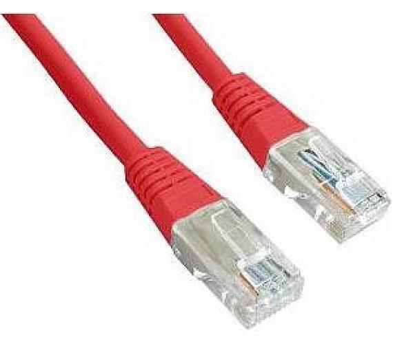 GEMBIRD Eth Patch kabel cat5e UTP 0,5m - červený (PP12-0.5M/R)