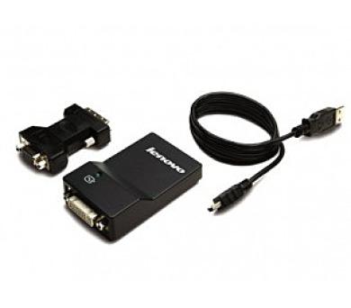 Lenovo USB 3.0 to DVI/VGA Monitor Adapter (0B47072) + DOPRAVA ZDARMA