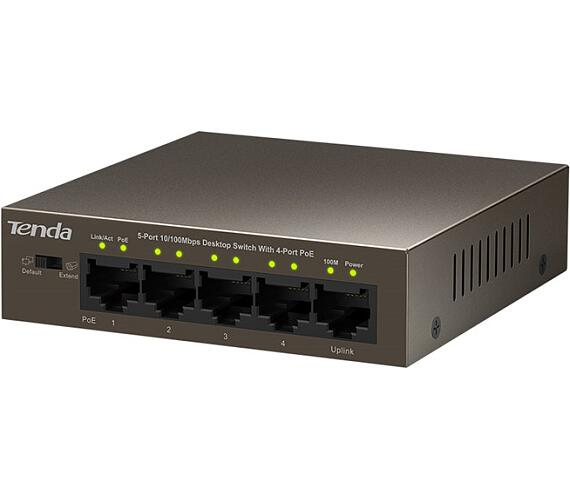 Tenda TEF1105P-4-63W PoE AT switch 4x PoE 802.3af/at