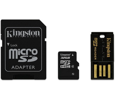 KINGSTON Mobility Kit 32GB microSDHC / CL4 / + SD adaptér + USB čtečka (MBLY4G2/32GB)