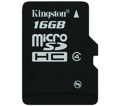 KINGSTON 16GB microSDHC / CL4 / bez adaptéru (SDC4/16GBSP)