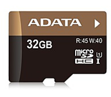 ADATA Micro SDHC karta 32GB UHS-I U1 + SD adaptér (R:45MB / W: 40MB) (AUSDH32GUI1-RA1)