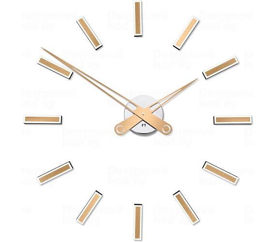 Designové nalepovací hodiny Future Time FT9600CM Modular champagne 60cm + DOPRAVA ZDARMA