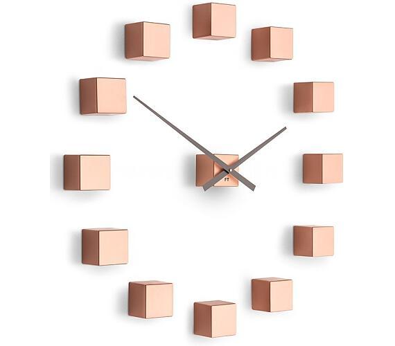 Designové nástěnné nalepovací hodiny Future Time FT3000CO Cubic copper + DOPRAVA ZDARMA