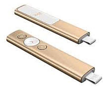 Logitech® BT/WL Presenter SPOTLIGHT - EMEA - GOLD - DEMO KUS (910-004862) + DOPRAVA ZDARMA