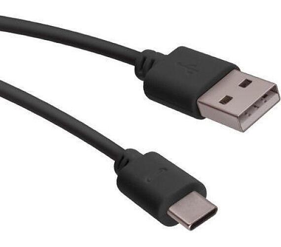 Forever USB-C 1m 2A modern černý