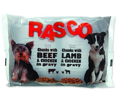 RASCO Dog s kuřecím a hovězím / s jehněčím a kuřecím multipack 400g