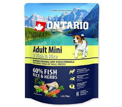 ONTARIO Dog Adult Mini Fish & Rice 0,75kg