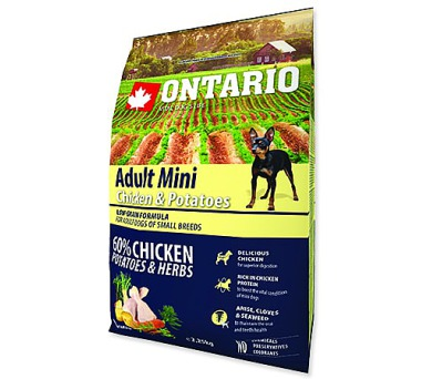 ONTARIO Dog Adult Mini Chicken & Potatoes & Herbs 2,25kg