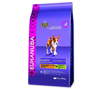 EUKANUBA Puppy & Junior Medium Breed 3kg