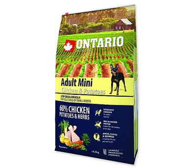 ONTARIO Dog Adult Mini Chicken & Potatoes & Herbs 6,5kg