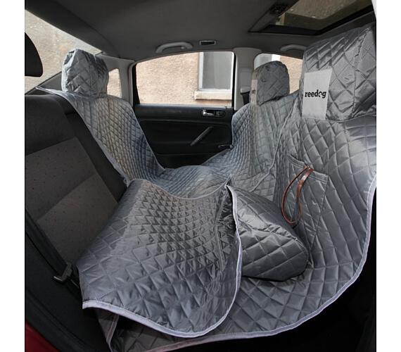 Reedog ochranný potah do auta pro psy na zip - šedý - M + DOPRAVA ZDARMA
