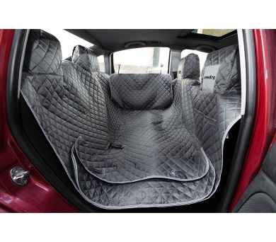 Reedog ochranný potah do auta pro psy na zip + boky - šedý - M + DOPRAVA ZDARMA