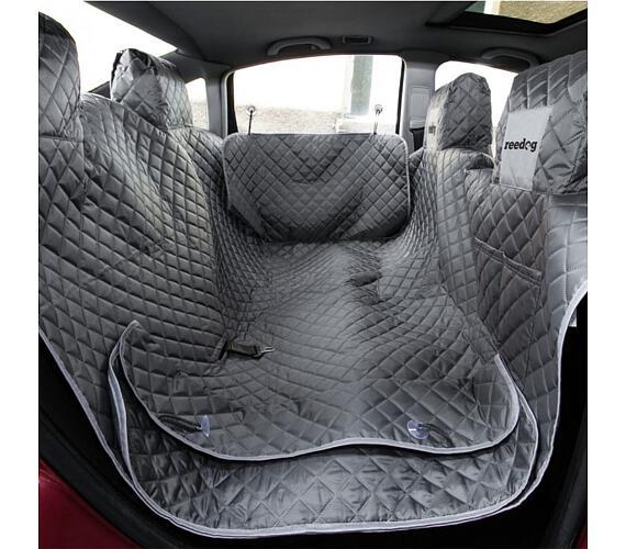 Reedog ochranný potah do auta pro psy na zip + boky - šedý - L + DOPRAVA ZDARMA