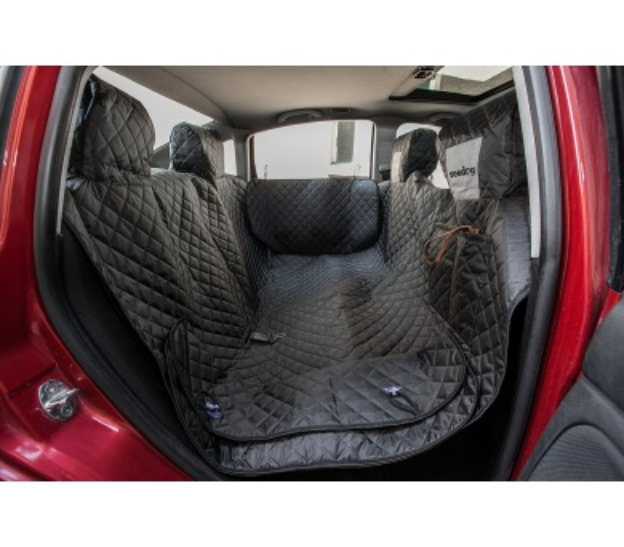 Reedog ochranný potah do auta pro psa na zip + boky - černý - L + DOPRAVA ZDARMA